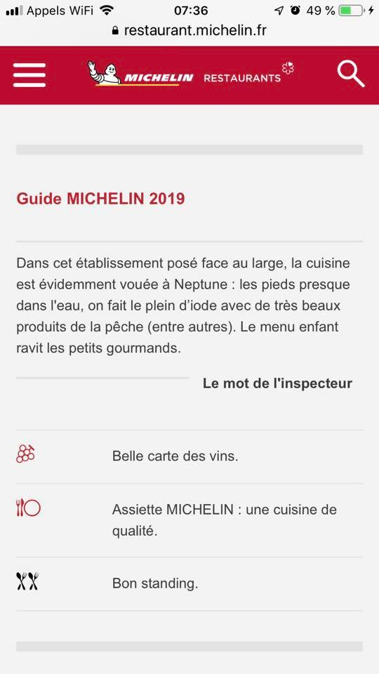 Guide Michelin 2019 - Le Vivier